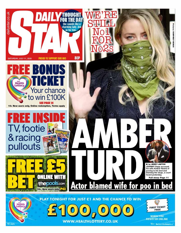 Daily Star Front Page 4th of November 2020 - Tomorrows