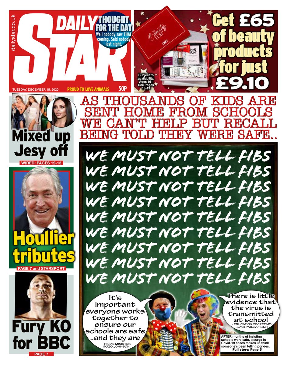 Daily Star Front Page 5th of November 2020 - Tomorrows